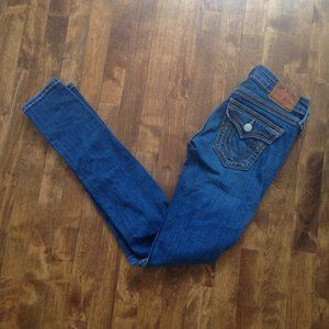True Religion - Julie Big QT Skinny Blue Jeans